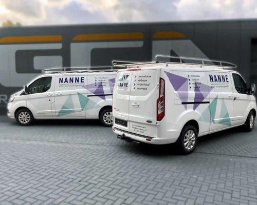 Bouwbedrijf Nanne belettering
