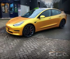 Tesla Energetic Yellow wrap