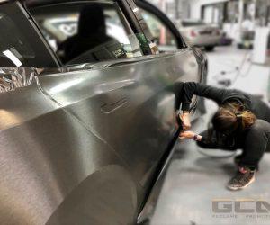 Tesla brushed steel wrap